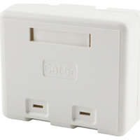 Excel Category 6 Plus Surface Mount Box - 2 Port - White