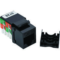 Excel Category 5e (UTP) Keystone Jack RJ45 - Black