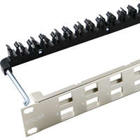 Excel Unloaded Keystone Patch Panel Frame - 24-port, Angled, 1U - Chrome