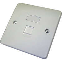 Excel Office Keystone Single Gang Faceplate - 1 Port
