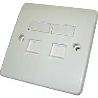 Office Keystone Single Gang Faceplate - 2 Port