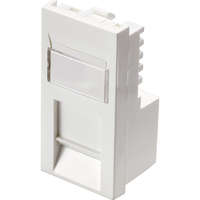Excel Category 5e (UTP) Office Unscreened Low Profile Euromod RJ45 Module - White