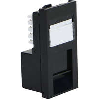 Excel Category 6 (UTP) Unscreened Low Profile Euromod RJ45 Module - Black