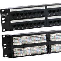 Excel Plus Category 5e Patch Panel - 48-port, 2U - Black