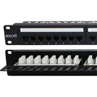 Excel Plus Category 5e Unscreened Patch Panel -...