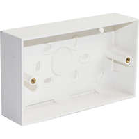 Excel Double Gang 37mm Deep Back Box