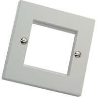 Plastron plat simple, sans plaque d'obturation, blanc