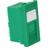 Excel Category 5e (UTP) Unscreened Euromod RJ45 Module - Green