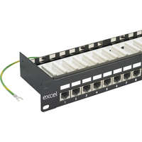 Excel Category 5e Screened Patch Panel - 24-port, 1U - Black