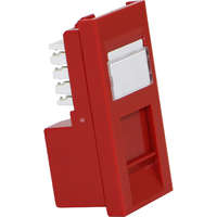 Excel Category 5e (UTP) Unscreened Low Profile Euromod RJ45 Module - Red