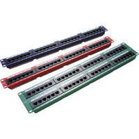 Excel Category 5e Unscreened Patch Panel - 48-port, 2U - Blue