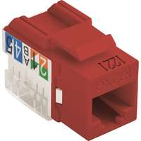 Excel Category 6 (UTP) Unscreened Keystone Jack - Red