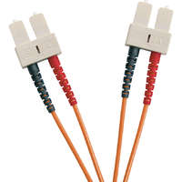 Enbeam OM2 Fibre Optic Patch Lead SC-SC Multimode 50/125 Duplex LS0H Orange 30m