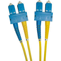 Enbeam OS2 Fibre Optic Patch Lead SC-SC Singlemode 9/125 Duplex LS0H Yellow 2m