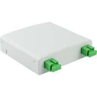 Enbeam FTTX Outlet - White, Loaded with 2 x SC/APC adapters
