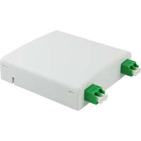Enbeam FTTX Outlet - White, Loaded with 2 x LC/APC Duplex adapters