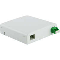 Enbeam FTTX Outlet - White, Loaded with 1 x LC/APC Duplex adapter