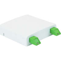Enbeam FTTX Outlet - White, Loaded with 2 x Shuttered SC/APC adapters