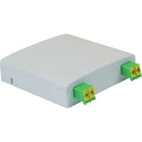 Enbeam FTTX Outlet - White, Loaded with 2 x Shuttered LC/APC Duplex adapters