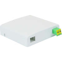Enbeam FTTX Outlet - White, Loaded with 1 x Shuttered LC/APC Duplex adapter