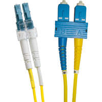 Enbeam OS2 Fibre Optic Patch Lead LC-SC Singlemode 9/125 Duplex LS0H Yellow 30m
