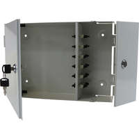 Enbeam 2 Door Lockable Wall Mounted Enclosure - 12 Port LC Quad 48-Core Multimode