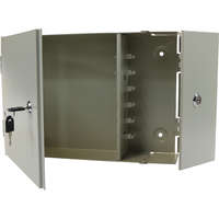 Enbeam 2 Door Lockable Wall Mounted Enclosure - 6 Port SC Duplex