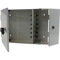 Enbeam 2 Door Lockable Wall Mounted Enclosure - 12 Port SC Duplex 24-Core Multimode