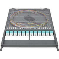 Enbeam HD 12P-24F-LC-OM3 Cassette - Loaded with Duplex Adaptors & Pigtails