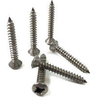Excel 8X38mm (8X1.5) Countersunk Screws POZI Box of 200