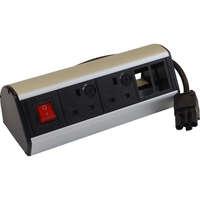 Excel Desktop Power Distribution Unit - 2x UK sockets, 2x 6C aperture