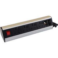 Excel Desktop Power Distribution Unit - 4x UK sockets, 2x 6C aperture