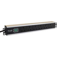 Excel 6-way Horizontal PDU - 6x UK sockets, UK plug