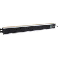 Excel 8-way Vertical PDU - 8x UK sockets, UK plug