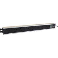Excel 8-way Vertical PDU - 8x UK sockets, UK plug