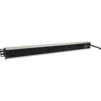 Excel 10-way Vertical PDU - 10x  UK sockets, 16A IEC 60309 plug - Switched