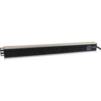 Excel 8-way Vertical PDU - 8x  UK sockets, 16A IEC 60309 plug - Switched