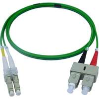 Enbeam OM5 Fibre Optic Patch Lead LC-SC Multimode 50/125 Duplex LS0H Lime Green 0.5m