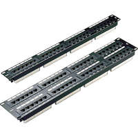 Excel Category 5e Unscreened Patch Panel - 48-port, 3U - Black