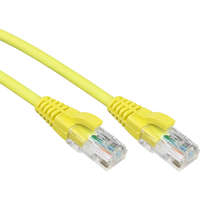Excel Category 5e Patch Lead U/UTP Unshielded LS0H Blade Booted 1m - Yellow
