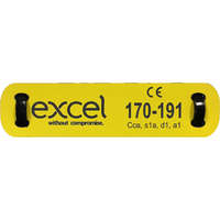 Excel Loom Label 15X80mm Yellow/Black
