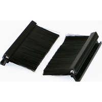 Excel Brush strip black for Single Gang Office plate (1 pair)
