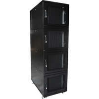 Environ CL600 42U Co-Location Rack 600x1000mm (4 Compartments) Vented (F) Vented (R) B/Panels R/Central-Mgmt Black - F/Pack