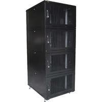 Environ CL800 42U Co-Location Rack 800x1000mm (4 Compartments) Vented (F) Vented (R) B/Panels B/Central-Mgmt Black