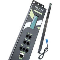 Excel Single-phase Vertical Intelligent PDU (INT1) c/w 16x C13, 4x C19 sockets - 32A EN60309 3m Bottom-fed lead
